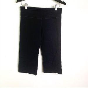 Lululemon Black Wide Leg Cropped Leggings Pants